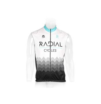 Radial Windbreaker Cycling Gilet - White