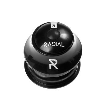 Radial Semi Integrated Bike Headset 1-1/8 Semi Cartridge - Black - 1 1/8 Inch