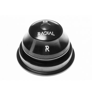 Radial Semi Integrated Bike Headset 1-1/8 - 1.5 Semi Cartridge - Black - 1 1/8 Inch - 1.5