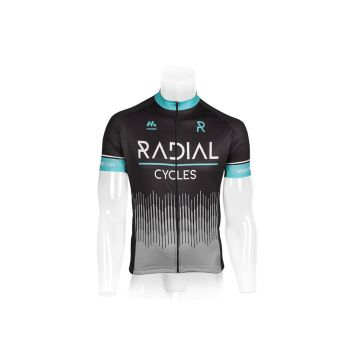 Radial Short Sleeved Cycling Jersey Black - Black