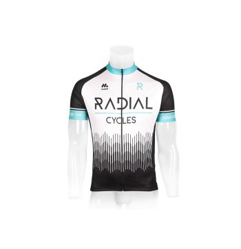 Radial Short Sleeved Cycling Jersey White
