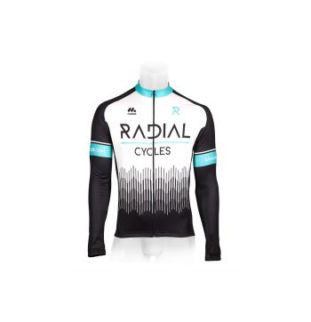 Radial Long Sleeved Cycling Jersey White - White