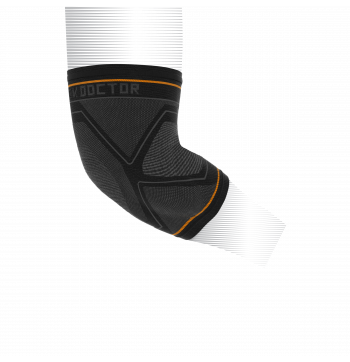 Shock Doctor Compression Knitted Elbow Sleeve With Gel Support